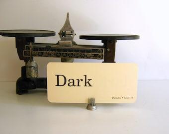 Vintage Flash Card - Dark - Word Card -1986 Parades Word Card - Scrapbook - Altered Art