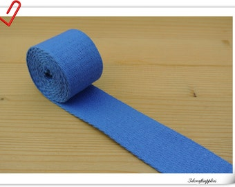 1.5 inch (1 1/2 inch , 3.8cm)  Heavy weight Cotton webbing  purse strap  key fob strap bag strap Blue  5 yards ZD55