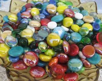 SALE Mixed Lot Grab Bag of Glass Gems Iridized Opaque Transparent Mix of  Multiple Colors Glass Gems Grab Bag