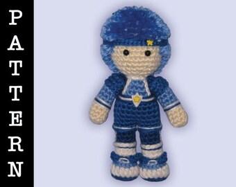 Crochet Pattern - Amigurumi Buddy Blue Doll