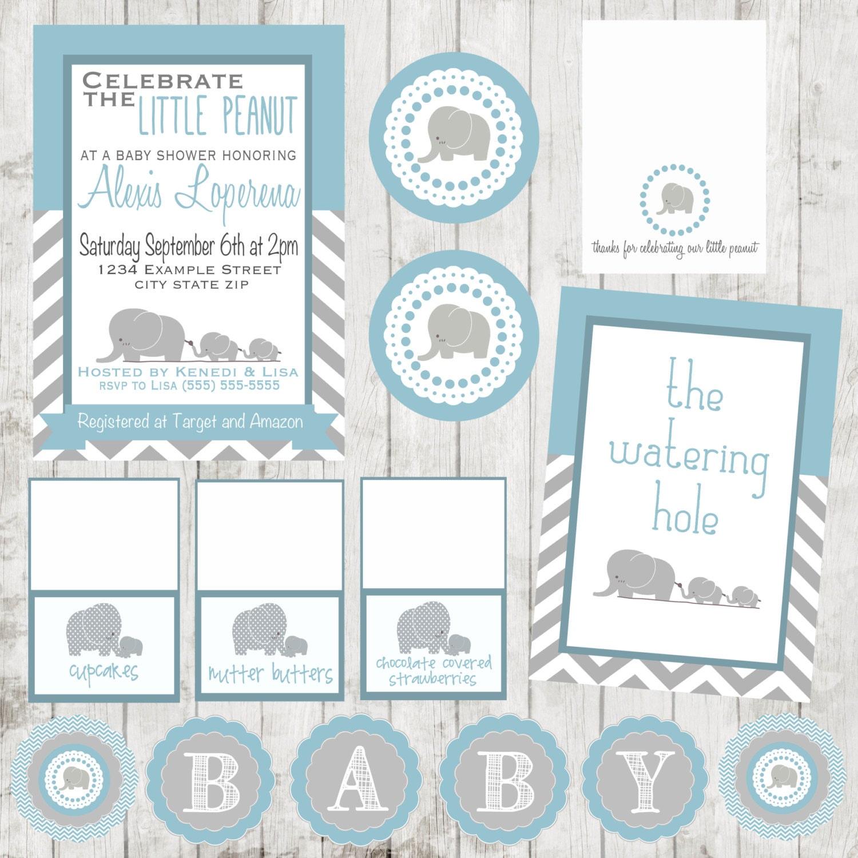 little peanut baby shower package invitation by daintydumplings