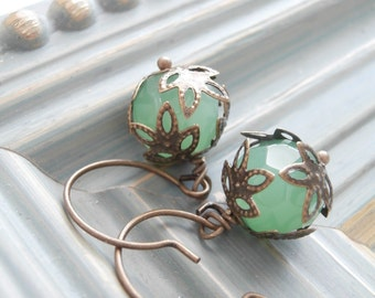 Beaded Earrings - Sea Mist