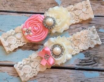 wedding garter / PINK   / bridal  garter/  lace garter / toss garter /  garter / vintage inspired lace garter/ U PICK Co