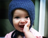 The Every Day Baby Bonnet ~ Hand Knit Eco Friendly Hat  Made to Order in Any Size