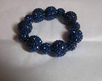 Basketball Wives Inspired Dark Blue Sparkle/Bling  Strech Bracelet