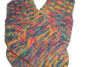 Baby Socks - Hand Knit Multi-Colored Stretchy Baby Socks