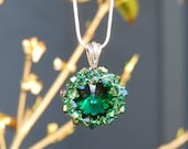 Dublin  Green Swarovski Crystal Necklace