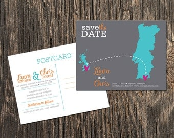 Portugal – Wedding Save the Date – Destination Wedding – Save the Date Postcards, Magnets