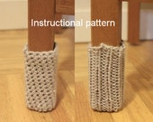 Chair socks pattern - knit and crochet versions