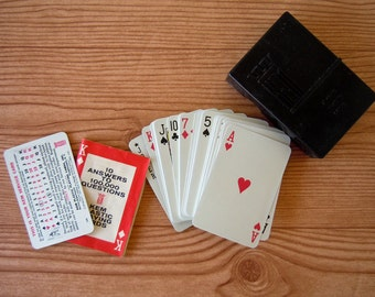 Vintage Mid Century 1960 Playing Cards with Case Kem Plastic Playing Cards