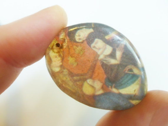 The Mourners. Resin charm pendant.