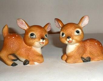 Asian teddy bear glass figurines