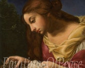 Mary - Magdalene - Crown of Thorns - Print - Jesus - Christ- Religious - 11 x 14