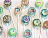 3D deep blue sea aquarium lollipops by Vintage Confections