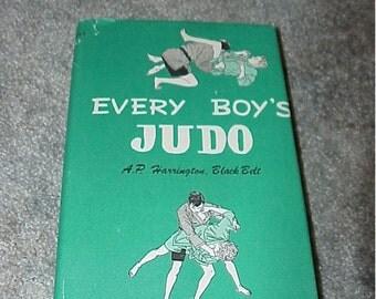 Vintage--1978--Book--Every Boy's JUDO--HC--Illustrated--By A.P. Harrington, Black Belt