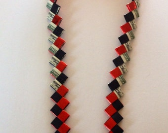Black and Red money lei