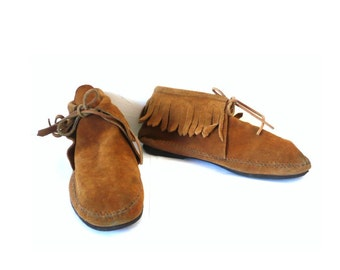 MINNETONKA Vintage Brown Leather Moccasin / Booties