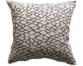 Throw Pillow Cover - 'Shingle - Grey'