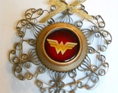Wonder Woman Ornament from Recycled Aluminum Can