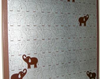 Elephants..Magnet Dry Erase Memo Board / Housewarming Gift / Coworker / Desk / Office Decor / Organization / Message Board /Bulletin Board