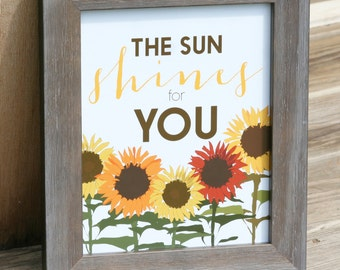 Sunflowers Inspirational Quote Home Decor Art Poster Print Sunshine