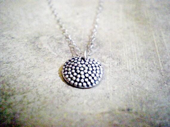 Delicate silver pendant neckalce, fine silver pendant