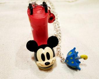 Rare Disney Mickey Mouse Rainboot Necklace. Japan.