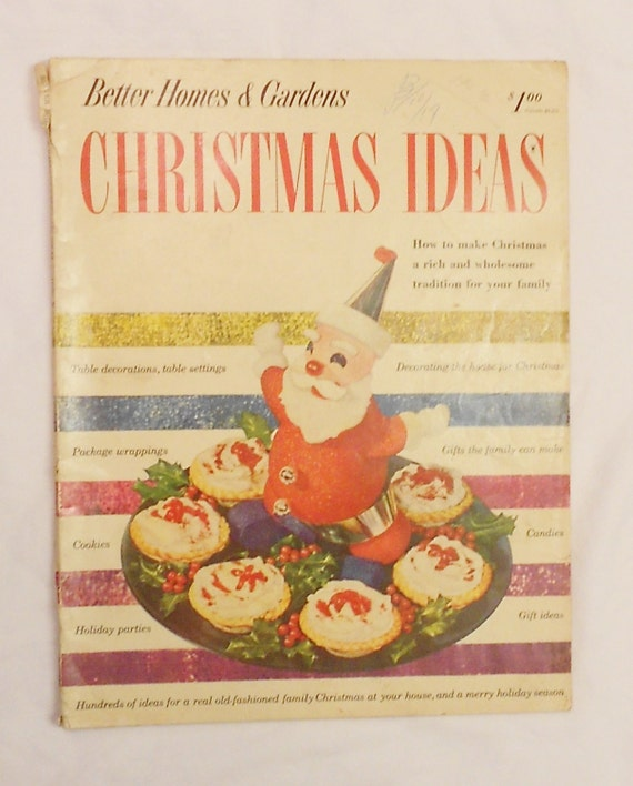 vintage 1952 better homes and gardens christmas ideas pattern