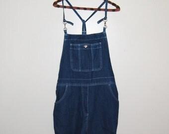 Vintage Denim Overalls Bib Hipster Style