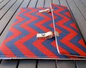 iPad Air 2 Case / iPad 4 Case / iPad Air Case / iPad 3 Cover / iPad 4 Cove / Microsoft Surface Pro 4 Case - Chevron Navy Blue and Red