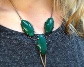Green Agate Dagger Bib