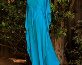 Kaftan Maxi Dress in Teal Jersey Knit - Long Kaftan - Lots of Colors