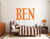 Large letter boys name wall decal, DB338