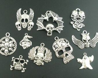 Halloween Charm/Pendant Mix - 10 pieces - #HI215