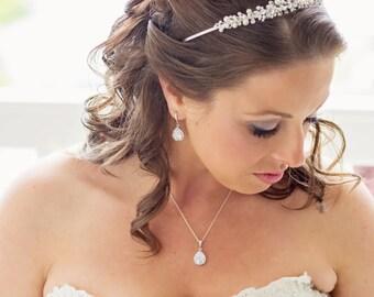 Cubic Zirconia Teardrop Bridal Earrings - Diamond Teardrop Earrings - Bridesmaid Gift - Wedding Jewelry