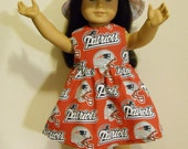 AG type  18 inch doll fan dress for Patriots