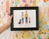 Custom Family Portrait Illustration-DIGITAL FILE ONLY
