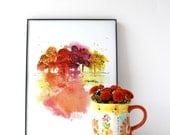 Colors of Fall Watercolor Print