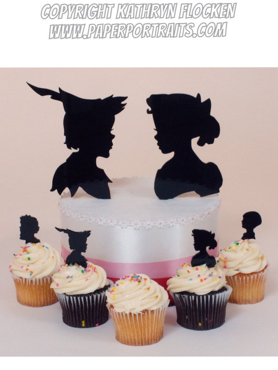 peter pan and wendy wedding cake topper items similar to wedding cake topper pan and wendy 18306