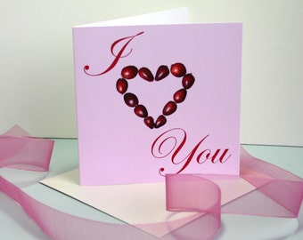 I Heart You Valentines Card or Anniversary Card for Her