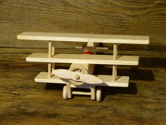 Wooden Toys For Boys : Red baron wood toy tri plane wooden toys boys child kids