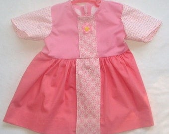 6 to 9 month Pink with Punch Dress