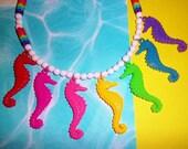 Splashy Seahorses Necklace