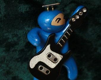 Adopt a Ninja: Guitar Playing Ninja Ornament