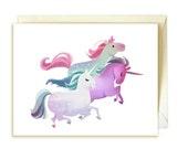 Unicorn Trio Greeting Card