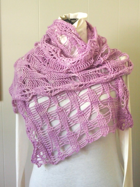 Cone Flower PDF Hand Knitting Scarf Pattern