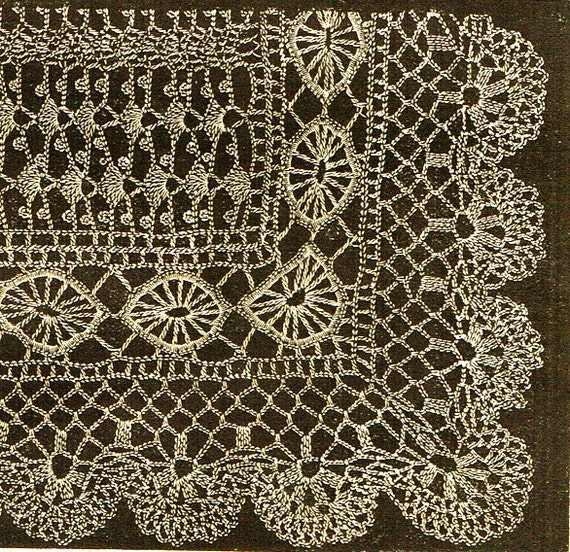 How to make a Victorian Crochet lace shawl-Vintage crochet