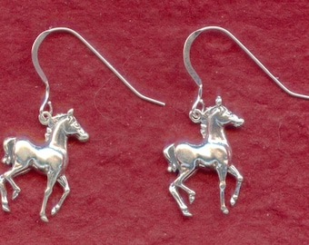 Sterling Silver Horse Earrings 925 Foal Pony