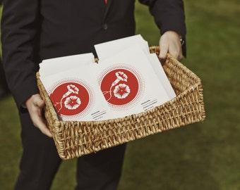 Printable Wedding Program - Instant Download Wedding Program - Wedding Program PDF - Wedding Program Template - Red Program - Morning Glory