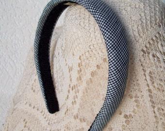 linen hounds tooth headband